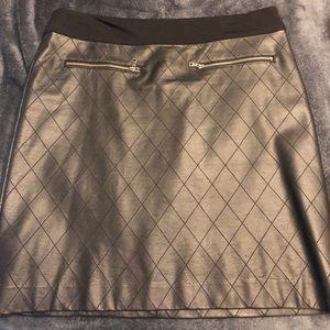 Black leather-like skirt